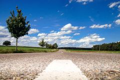 O conceito aberto da estrada foto de stock royalty free
