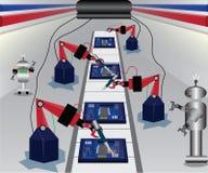 O conceito automático da máquina, no futuro, usou a máquina automática r ilustração do vetor
