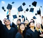 O conceito bem sucedido do graduado da cerimônia da primeira etapa Imagem de Stock