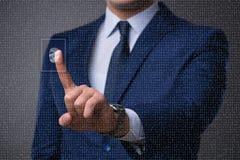 O conceito biométrico da identificação com impressões digitais Fotos de Stock Royalty Free
