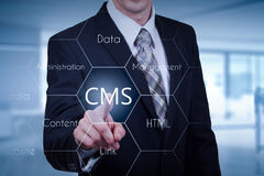 O conceito da administração do Web site do sistema de gestão do índice do cms Fotografia de Stock Royalty Free