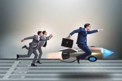 O conceito da competição com dois homens de negócios foto de stock royalty free