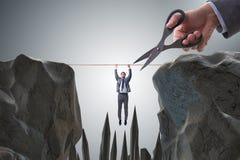 O conceito da competição com homem de negócios de suspensão fotografia de stock royalty free