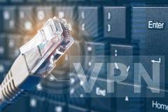 O conceito da conexão de rede Censura na rede Proteção de dados Imagens de Stock