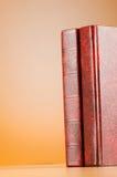 O conceito da educação com os livros vermelhos da tampa Foto de Stock Royalty Free