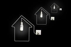 O conceito da eletricidade Fotografia de Stock Royalty Free