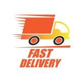O conceito da entrega livra, rápido, ilustração do vetor da entrega do alimento Fotos de Stock