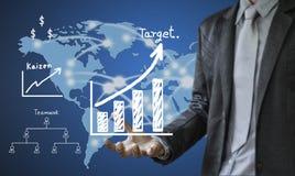 O conceito da escrita do homem de negócio do processo de negócios melhora Fotografia de Stock Royalty Free