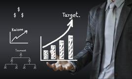 O conceito da escrita do homem de negócio do processo de negócios melhora Imagem de Stock Royalty Free