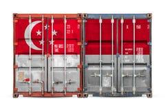 O conceito da exporta??o-importa??o e entrega nacional dos bens foto de stock royalty free