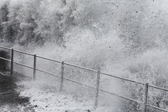 Onda do tsunami Foto de Stock
