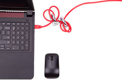 O conceito da segurança da rede informática com dobro padlocks sobre c Foto de Stock Royalty Free