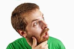 O conceito da surpresa - espantado e confunde o homem imagem de stock royalty free