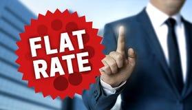 O conceito da tarifa única é mostrado pelo homem de negócios foto de stock royalty free