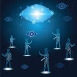 O conceito da tecnologia, vida digital sente tem olhado fixamente toda a hora ilustração royalty free