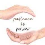 O conceito das mãos para a paciência é poder fotografia de stock royalty free