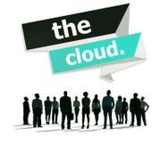 O conceito de computação do armazenamento dos trabalhos em rede da nuvem Imagem de Stock Royalty Free