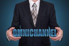 O conceito de Omnichannel entre os dispositivos para melhorar o desempenho da empresa Soluções inovativas no negócio Fotografia de Stock
