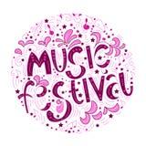O conceito de um cartaz abstrato musical de elementos e de instrumentos musicais ilustração stock