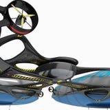 O conceito de um dirigível para o uso multifuncional Ilustração do projeto de design 3D Foto de Stock