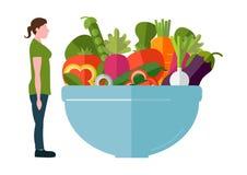 O conceito de um estilo de vida saudável e de um peso perdedor Vetor ilustração royalty free
