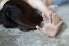 O conceito do abuso sexual da parada, para a violência contra mulheres, o dia das mulheres internacionais, o conceito do acosso s imagens de stock