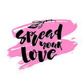 O conceito do amor e da caridade entrega o cartaz da motivação da rotulação Fotografia de Stock Royalty Free