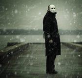 Homem com máscara branca Foto de Stock