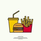 O conceito do fast food ilustração royalty free