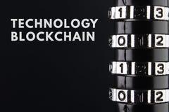 O conceito do fechamento, proteção Blockchain da tecnologia, criptografia do tráfico da Internet Imagem de Stock Royalty Free