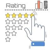 O conceito do feedback Stars a ilustração do vetor Imagens de Stock Royalty Free