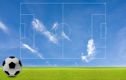 O conceito do futebol ao fundo. Fotos de Stock Royalty Free