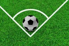 O conceito do futebol ao fundo. Fotografia de Stock