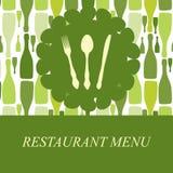 O conceito do menu do restaurante Imagens de Stock Royalty Free