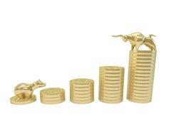 O conceito do mercado de valores de ação Fotografia de Stock