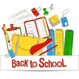 O conceito do molde é de volta à escola Assunto de escola Para o projeto gráfico, bandeiras da Web Ilustração do vetor ilustração stock