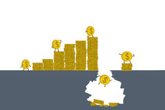 O conceito do negócio cada investimento tem riscos ilustração stock