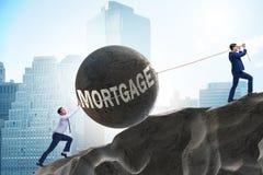 O conceito do negócio do débito e do empréstimo foto de stock royalty free