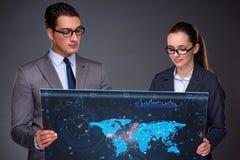 O conceito do negócio da colaboração virtual Imagem de Stock