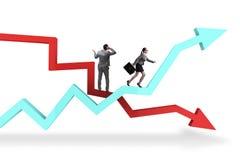 O conceito do negócio da crise e da recuperação Fotografia de Stock Royalty Free