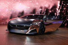 O conceito do ônix de Peugeot fotos de stock