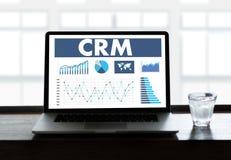 O conceito do serviço da análise da gestão de CRM do cliente empresa controla Imagens de Stock Royalty Free