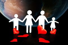 O conceito dos povos, do amor, da saúde, do ambiente e da caridade foto de stock royalty free
