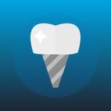 O conceito e a medicina médicos dos cuidados médicos da pesquisa lisa do implante do dente do dentista dos cuidados médicos prove Fotografia de Stock Royalty Free