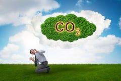 O conceito ecológico das emissões de gases de efeito estufa imagens de stock