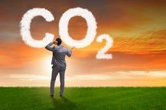 O conceito ecológico das emissões de gases de efeito estufa fotos de stock royalty free