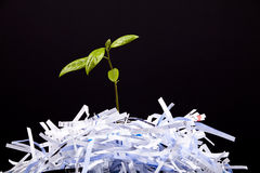 O conceito novo da vida com recicl Fotografia de Stock