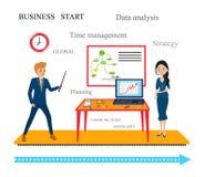 O conceito para o negócio-início, estudos de mercado Foto de Stock Royalty Free