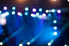 O concerto ilumina o bokeh Foto de Stock Royalty Free