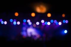 O concerto ilumina o bokeh Fotos de Stock Royalty Free